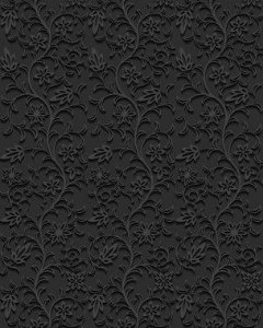Papel de Parede Damask Dark Flowers