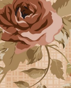 Papel de parede Floral em tons de Marrom