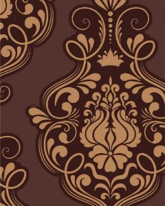 Papel de Parede Damask Brown