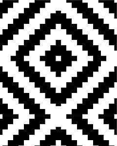 Papel de Parede Estilo Geométrico Preto e Branco