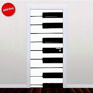 Adesivo porta Teclado de Piano 210cm x 90cm