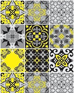 Hidráulico em tons de Cinza, Preto e Amarelo