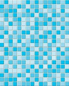 Papel de Parede Pastilhas em tons de Azul - 3 cmts