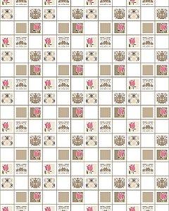Papel de Parede Estilo Pastilhas 034 - 5 cmts