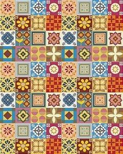 Papeis de Parede com Ladrilhos Geométricos Coloridos