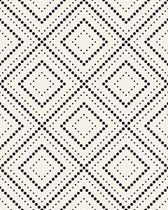 Papel de Parede Estilo Geométrico Bege e Preto