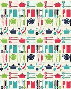 Azulejo Hidráulico Modelo Utensílios de Cozinha
