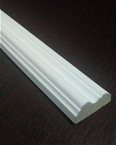 Moldura decorativa em poliuretano 2 metros RM415 Branca