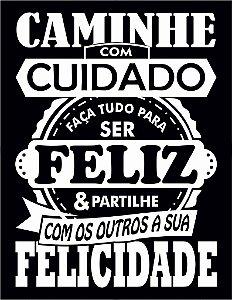 """Placa Decorativa """"Partilhe Felicidade"""" 24 x 31cm"""