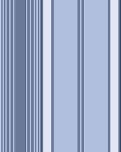 Papel de parede com Listras em Tons de Azul