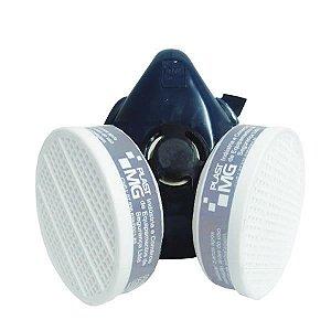 Respirador 1/4 e semi facial para dois filtros - sem filtros