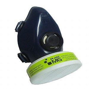 Respirador 1/4 e semi facial com filtro VO/GA.