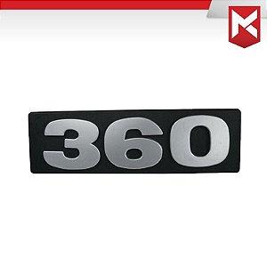 Emblema / Letreiro Frontal da Potência 360 Scania T 112/113