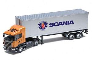 Caminhão Baú em Miniatura Scania Série 5