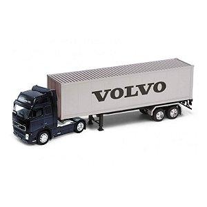 Caminhão Baú em Miniatura Volvo FH Globetrotter