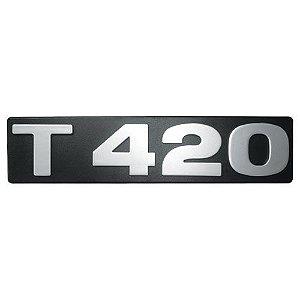 Emblema / Letreiro T 420 Scania Série 4