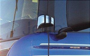 Aplique em Inox da Dobradiça de Porta para Scania Série 5