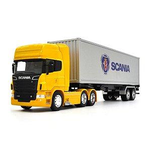 Caminhão Baú em Miniatura Scania Highline