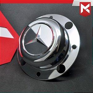 Tampa do Cubo Dianteiro para Mercedes-Benz 10cm - Cromada Kit 2 un.