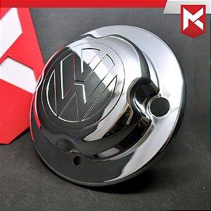Tampa do Cubo Dianteiro para Volkswagen - Cromada Kit 2 un.