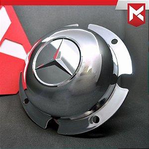 Tampa do Cubo Dianteiro para Mercedes-Benz 13,5cm - Cromada Kit 2 un.