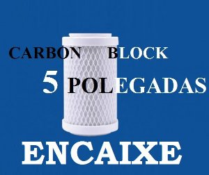 Refil para Filtro de Decloração Carbon Block 5 Polegadas Encaixe para Acqua Loren 5
