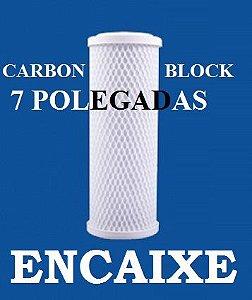 Refil para Filtro de Decloração Carbon Block 7 Polegadas Encaixe