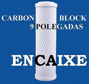 Refil para Filtro de Decloração Carbon Block 9. 3/4'' Encaixe
