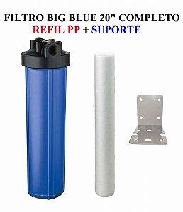 Filtro Big Blue 20 Polegadas Refil Polipropileno e Suporte