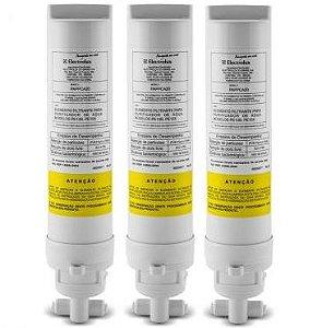 Kit Com 3 Refis / Filtro Para Purificador de Água Electrolux PE10B e PE10X (Original) PAPPCA20
