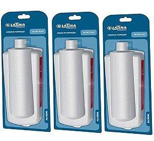Kit com 3 Refis / Filtro Para Purificador de Água LATINA P355 (Original)