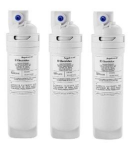 Kit com 3 Refis / Filtro Para Purificador de Água Electrolux PA10N / PA20G / PA25G / PA30G / PA40G (Original) PAPPCA10