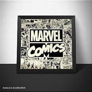Poster 20x20 + Quadro Marvel Comics