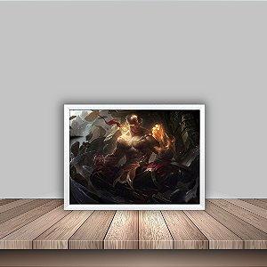 Quadro Poster 30x40 Lee Sin Punhos Divinos