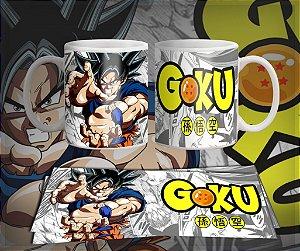 Caneca Son Goku Anime - Dragon Ball Z, Gt, Super
