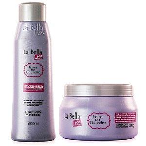 Kit Loira no Chuveiro Efeito Platinado Shampoo 500ml e Máscara Matizadora 500g La Bella Liss