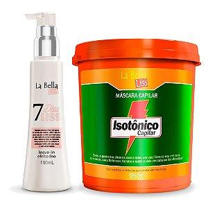 Kit Máscara Hidratante Isotônico Capilar 950g e Leave-in 7 Dias Liss 160ml La Bella Liss