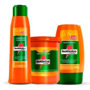Kit Hidratante Isotônico Capilar Shampoo 500ml, Leave-in 150g e Máscara 240g