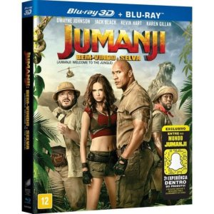 Blu-Ray + Blu-Ray 3D - Jumanji: Bem Vindo À Selva