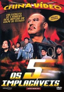 Dvd Os 5 Implacáveis - China Video