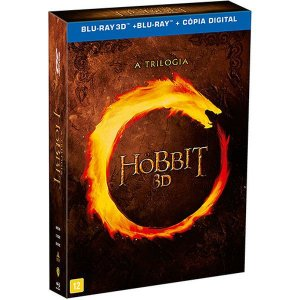Blu-ray 3D - O Hobbit: A Trilogia (12 Discos)