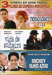 Dvd Nosso Louco Amor / Vida De Solteiro / Mickey Olhos Azuis
