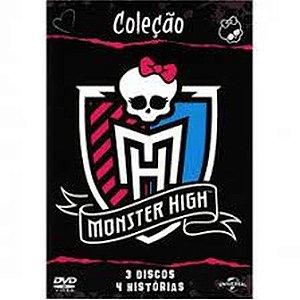 Dvd Coleção Monster High - 3 DISCOS