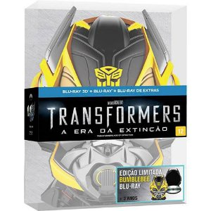 Blu-Ray 3D / Blu-Ray - Transformes a Era da Extinção - Mascara Bumblebee