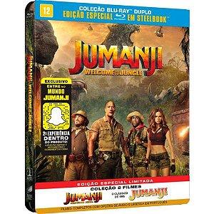Steelbook Blu-Ray Jumanji + Jumanji - Bem-Vindo A Selva