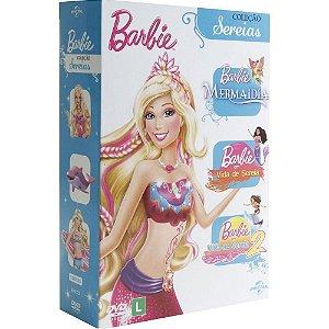 BOX DVD COLECAO BARBIE SEREIA (3 DISCOS)