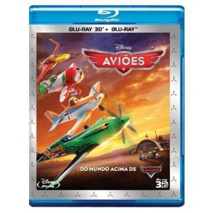 Blu ray 3D + Blu Ray - Aviões Do Mundo Acima De Carros
