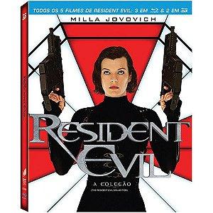 Blu-Ray Resident Evil - A Coleção (3 Blu-ray 2d + 2 Blu-ray 3d)
