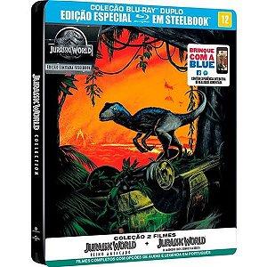 Blu-Ray Coleção Jurassic World - Steelbook - 2 Discos