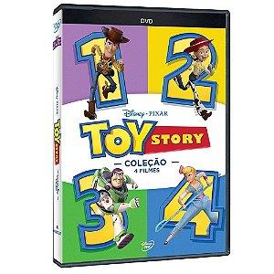 KIT DVD - Coleção Toy Story 4 Filmes - 4 Discos